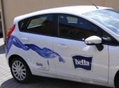 Bella - velkoplošný tisk a polep firemního automobilu