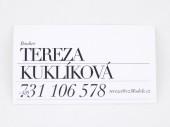 Czechoslovak Models - tisk vizitek